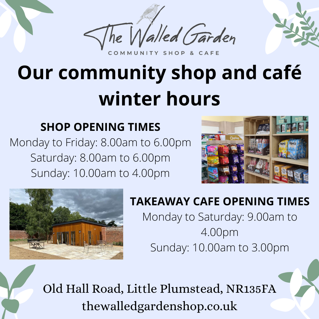 Our winter opening hours